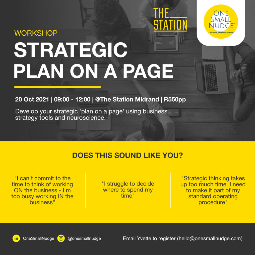 Strategic Plan On a Page